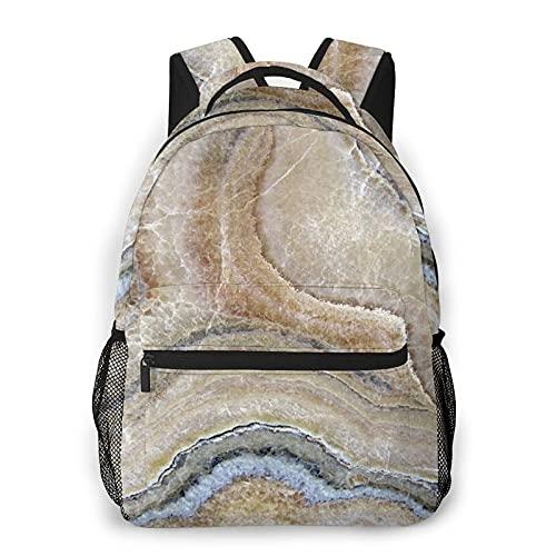 LUDOAN Mochila para portátil de viaje,textura de mármol ónix,mochila antirrobo resistente al agua para empresas,delgada y duradera