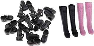 koolsoo 12 Pairs of 1/6 Dolls High Heeled Plastic Shoes for Blythe Licca / Momoko