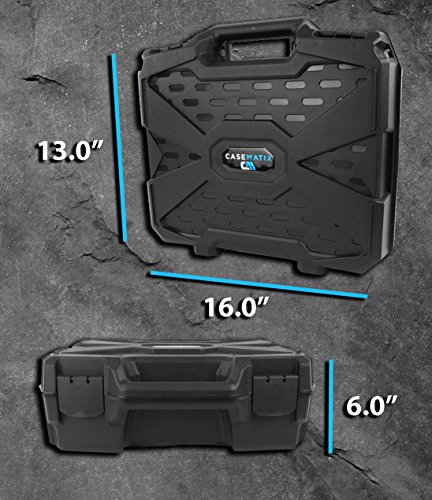 Casematix FPV Drone Quadcopter Travel Case Bag with Customizable Foam Fits Eachine Racer 250 FPV Drone with Props on, Batteries, Propellers, Frame Arms, Receivers and More Compact Accessories