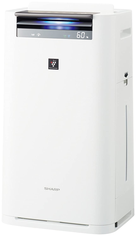 シャープ 加湿 空気清浄機 プラズマクラスター 25000 ハイグレード 16畳 / 空気清浄 31畳 PM2.5 モニター付 クラウド対応 ホワイト KI-HS70-W