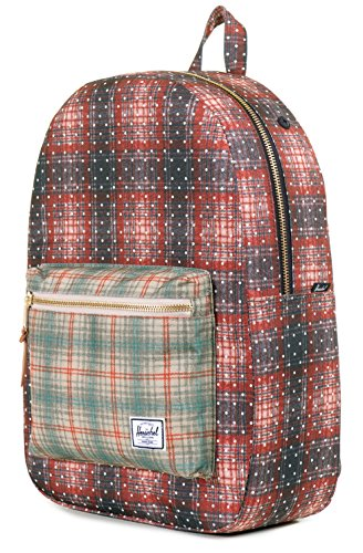 Herschel , Zaino Casual Unisex adulti Multicolore Navy Crosshatch/Woodland Camo/Leather