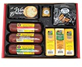WISCONSIN'S BEST and WISCONSIN CHEESE COMPANY, Party Gift Basket - features Smoked Summer Sausages, 100% Wisconsin Cheeses, Crackers, Pretzels & Mustard | Perfect Birthday Gifts | Amazon Prime