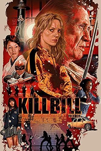 GLGLGL Cyfrowy obraz dla dorosłych DIY Kill Bill Bill DIY dorośli dzieci początkujący obraz olejny zestaw dekoracja ścienna - (40 x 50 cm) bez ramy