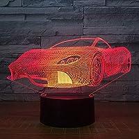 車3D 7色ランプの視覚は子供の接触Usbのための夜ライトを導きました