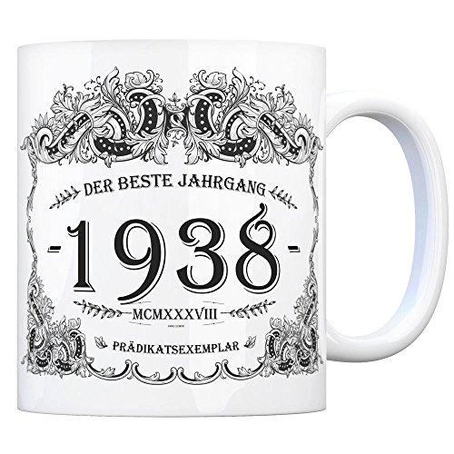 trendaffe - 1938 der Beste Jahrgang Kaffeebecher - EIN tolles Geschenk zum Geburtstag für Wein Liebhaber und alle die im Jahr 1938 geboren sind.