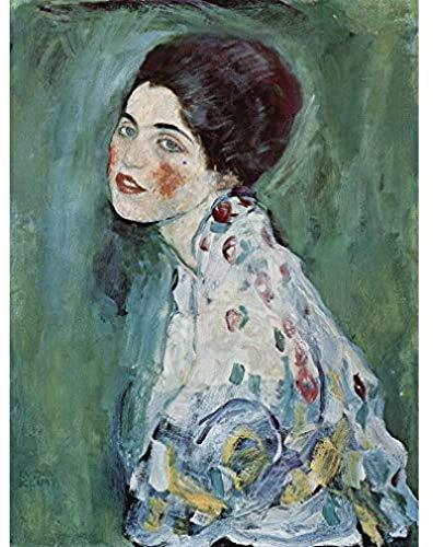 Lienzo de Arte 30x50cm sin Marco Gustav Klimt Retrato de una Dama Pintura Arte Impreso Lienzo Premium decoración de Pared póster Mural