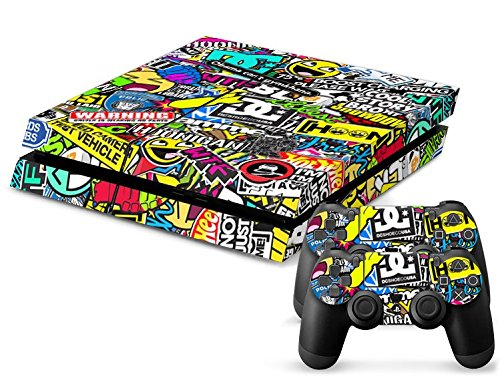 Sony PS4 Playstation 4 Skin Design Foils Aufkleber Schutzfolie Set - Hoonigan Motiv