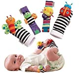 MOCHO AM 4 piezas New Born Baby Socks Muñeca Bandas Sonajero Rattling Sensorial Toy Infant Child