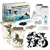2Pepers DIY Fairy and Unicorn Nightlight Craft Kit (2 Pack), Fairy Lantern Jars...