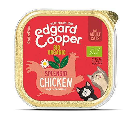 Edgardcooper Bio Grain Free Adult para gatos de 85 g, pollo salvia y manzanilla