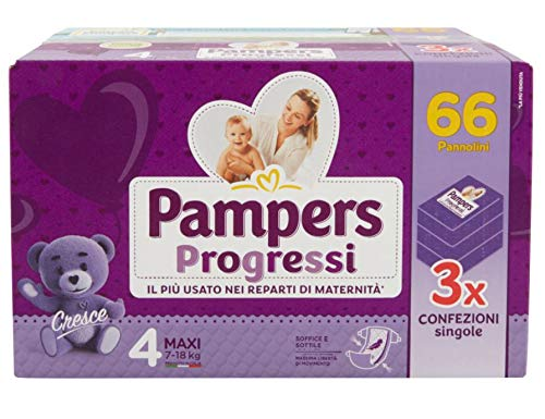 Pampers Pañales Progressi Maxi Talla 4, 66 unidades – 3000 g
