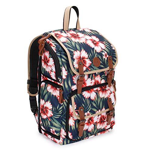 GOgroove Kamera Rucksack für Spiegelreflexkameras: DSLR Backpack ideal für Reisen, ausreichend Platz für Kamera & Zubehör, sowie Laptop und Stativhalter & wetterfestem Regenschutz, Tropisch
