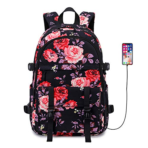 Laptop Backpack,Backpack Womens, 15.6 Inch Stylish College School Backpack, With USB Charging Port, Water Resistant Casual Daypack Laptop Backpack for Women/Girls/Travel/Business