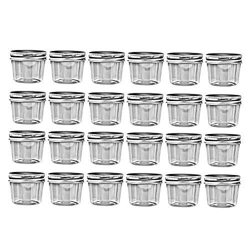 "Compound Kings Storage 25"" Jar Clear Plastic Containers Slime Storage Jars Containers with Lid BPA Free PET Jar for Cosmetics Cream Bathroom Kitchen Jar Paint Body Butter Jars"