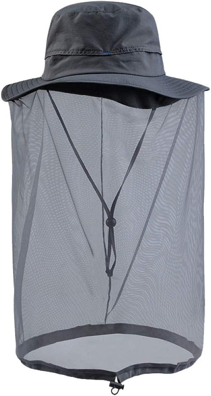 CGXBZA Upf50+ Summer Bucket Hat Breathable Mesh AntiMosquito Sun Hat Men Women Fishing Cap Sun Predection Insect Bug Bee