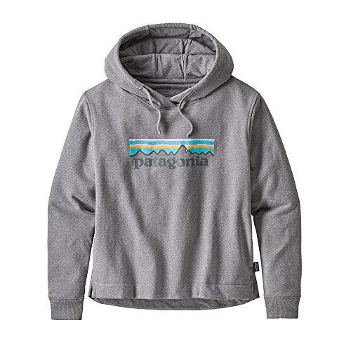 Patagonia Damen W's Pastel P-6 Logo Uprisal Hoody Sweatshirt, Grau (Gravel Heather), S