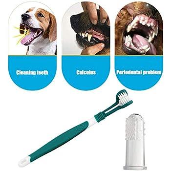 WELLXUNK® Brosses à Dents Doigt d'animal familier de Silicone, Brosse à Dents pour Animaux de Compagnie, Brosse à Dents pour Chiens, Améliore l'hygiène Buccale Prévient la Plaque Dentaire