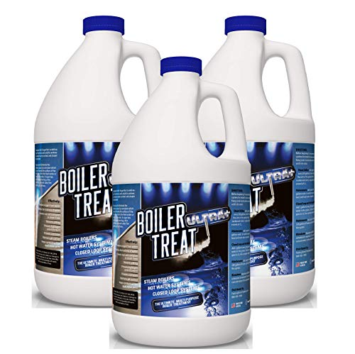 Boiler Water Treatment Chemicals - 3 Gallon Case | Prevents RUST & CORROSION in Steam Boilers, Hot Water Systems, Closed Loop Systems, Wood Burning Boilers