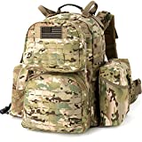MT Military MOLLE 2 Medium Rucksack , Army Tactical Large Backpack, 3 Days Assault Pack, Multicam