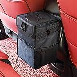 Car Trash Can with Lid and Storage Pockets - Waterproof Car Trash Bag Hanging, 100% Leak-Proof Automotive Garbage Can, Multipurpose Trash Bin for car