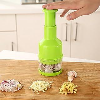 PinShang Handheld Vegetable Cutter Slicer Garlic Onion Pepper Ginger Peeler Dicer Pressing Food Chopper green
