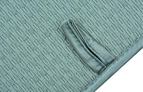 Tapis de séchage rapide et absorbant pour plan de travail - Tapis de séchage rapide - Antidérapant - En microfibre - Carré - 41 x 46 cm - Vert