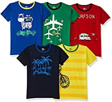 SOUTH SAILOR Boy's T-Shirt(Pack of 5)