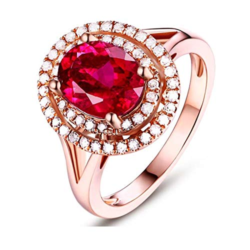 Aimsie Gold ring, oval shape, wedding rings, women's ring, women's ring, engagement rings, real gold, rose gold. 3ct