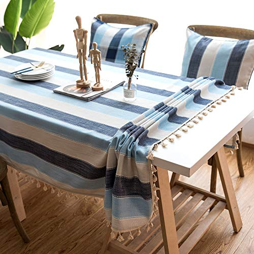 ZAMAC Mantel Mesa Cuadrado para Cocina Salón Decoración Estampado Manteles Impermeable Lavable Azul, 140x140cm