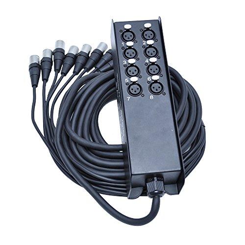 Seismic Audio SACB-8x25 8-Channel Low Profile XLR Send Sub Snake Cable, 25-Feet
