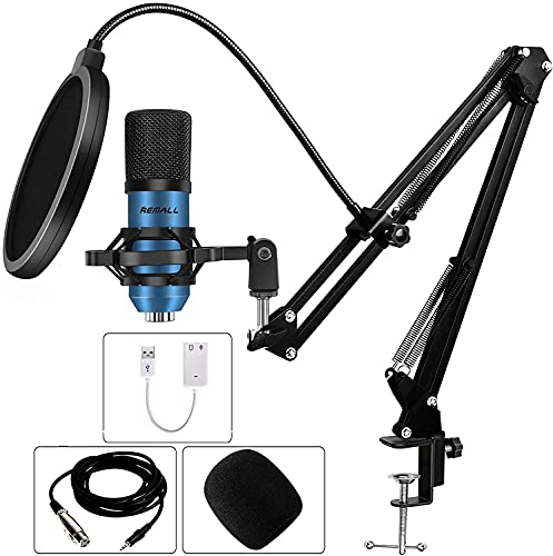 コンデンサーマイク XLR PC マイク オンライン会議 Condenser Microphone 単一指向性マイク 集音 Karaoke カラオケ 録音 ボイスチェンジャー 配信用 ゲーム実況対応 192KHZ/24BITセット アームスタンド YOUTUBE TIKTOK FACEBOOK など生放送に適用