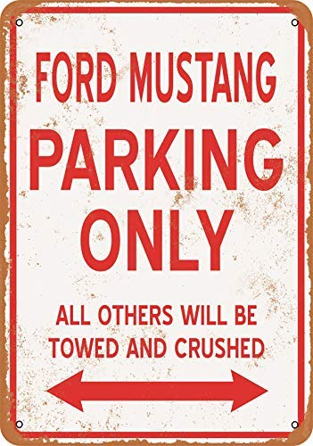 BRILLON Ford Mustang Parking Only Blechschild, Vintage-Look, 20,3 x 30,5 cm