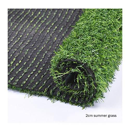 Rasen PING- Zuschnitt Kunstrasen,Sommergrashaufenhöhe 20mm Natürlicher Realistischer Gartenhaustierhunderasen PE Kunststoff Drinnen Und Draußen Zu Hause (Color : 2×1m)