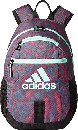 adidas Creator Backpack (Little Kids/Big Kids) Shock Pink Dot/Clear Mint/Black One Size