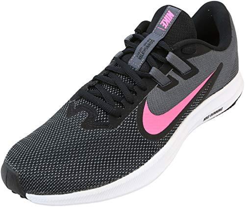 Nike Women's Downshifter 9 Sneaker, Black/Laser Fuchsia-Dark Grey, 11 Regular US