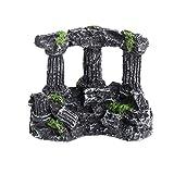 ROSEBEAR Decoración de acuario Romanos Pilares Ruinas de resina Pecera Ornamento Paisaje