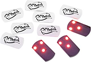 MVP Disc Golf Flat LED Tri-lite Disc Golf Lights (Pack of 10)