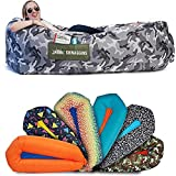 Chillbo Shwaggins Inflatable Couch – Cool Inflatable Chair. Upgrade Your Camping Accessories. Easy Setup is Perfect for Hiking Gear, Beach Chair and Music Festivals. (Camo Urban)