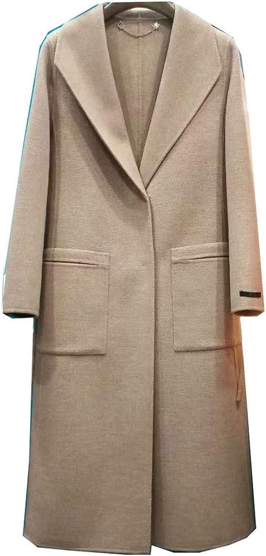 CG New Women's Long Coat Lapel Belt Parka Jacket Cardigan Overcoat Outwear G8057