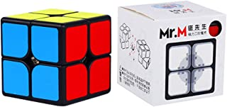 OJIN Shengshou Mr.M 2x2 Gem Baoshi Cube Rompicapo Twist Puzzle Giocattoli (Noir 2x2)