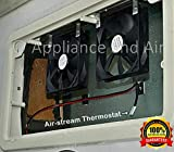 2 RV DOMETIC Norcold add on Cooling Fans + ON/Off...