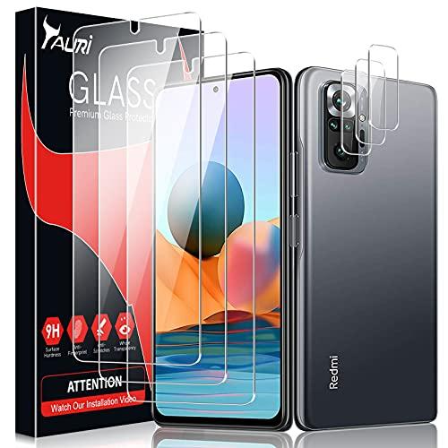 TAURI 6 Pezzi Vetro Temperato per Xiaomi Redmi Note 10 PRO/Note 10 PRO Max con 3 Pezzi Pellicola Protettiva + 3 Pezzi Fotocamera Posteriore Pellicola - Schermo Protettivo con Kit D'Installazione
