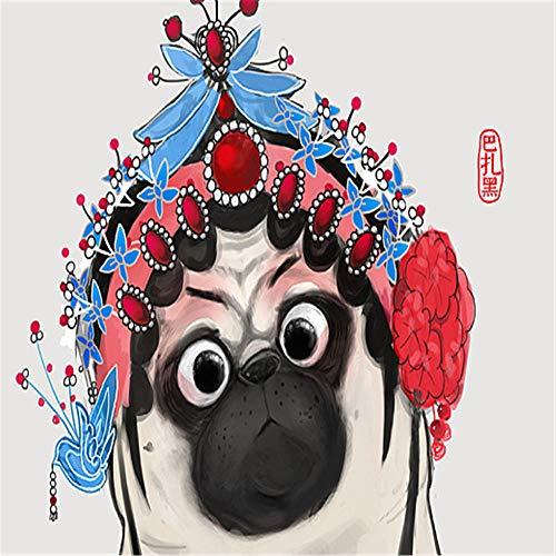 DIY Pintura Regalo Disfraz de pera de Pekn,Pintar por Numeros para Adultos Nios 40x50cm preimpreso lienzo de pintura al leo Living Room arte de la pared decoracin