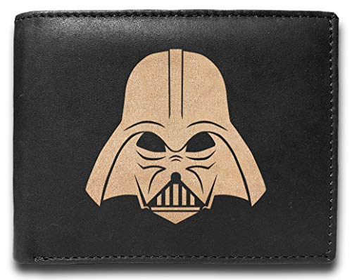 Darth Vader UD7228 Anakin Skywalker Leder lasergraviert minimalistisch schmal schwarz RFID-Blockierung Multi Taschen Kreditkartenhalter Oraganizer Herren börse