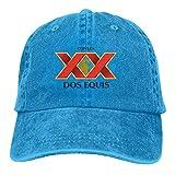 Cerveza Xx Dos Equis Unisex Hat Leisure Dicer Comfortable Headdress Classic Headdress Blue