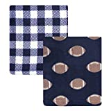 Hudson Baby Unisex Baby Coral Fleece Plush Blankets, Football, One Size