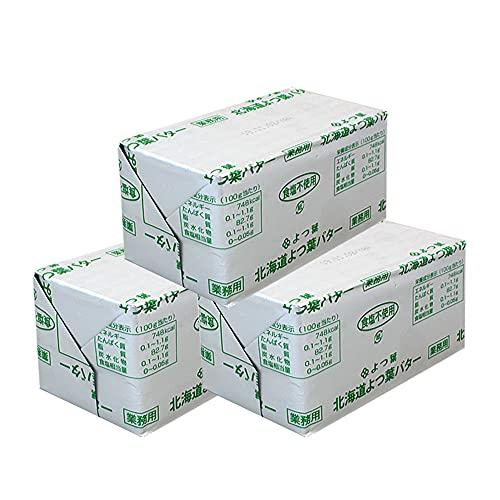 【mamapan】北海道 よつ葉 無塩バター 食塩不使用 450g×3(1350g) まとめ買い