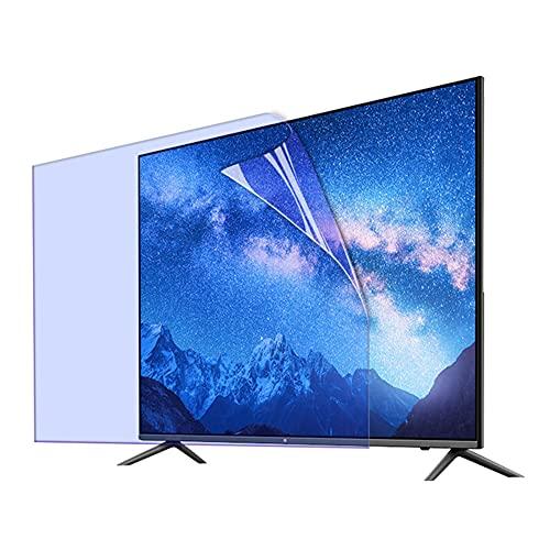 ALX-Dec Protector De Pantalla De Tv Anti-luz Azul, Panel Protector De Pantalla De 50-58 Pulgadas, Filtro Antirreflejos, Antirrayas Para LCD/LED/OLED & QLED 4K HDTV/Transparent / 52in