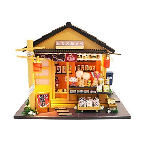 FZ FUTURE Miniatur Puppenhaus Mit Licht Musik Mini Handgefertigte Dollhouse Kit DIY House, DIY Mini Dollhouse Wooden Furniture Kit, Mini Haus Raumdekoration Für Kinder Und Eltern