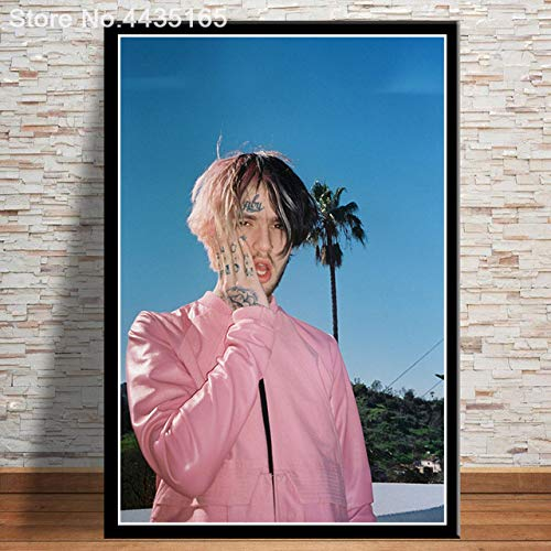 tzxdbh Poster Lil Peep Rip Rapper Music Singer Star Canvas Painting Wall Art Picture Carteles e Impresiones Decorativos para la Sala de Estar